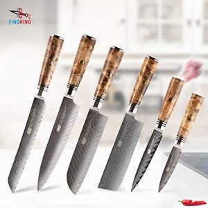 Knife Sets 6 PCS AUS 10 Damascus Steel
