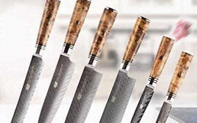 Knife Sets 6 PCS AUS 10 Damascus Steel